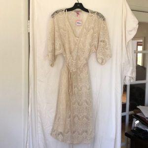 Calypso St. Barth Cosmita Lace wrap dress BNWT Lg